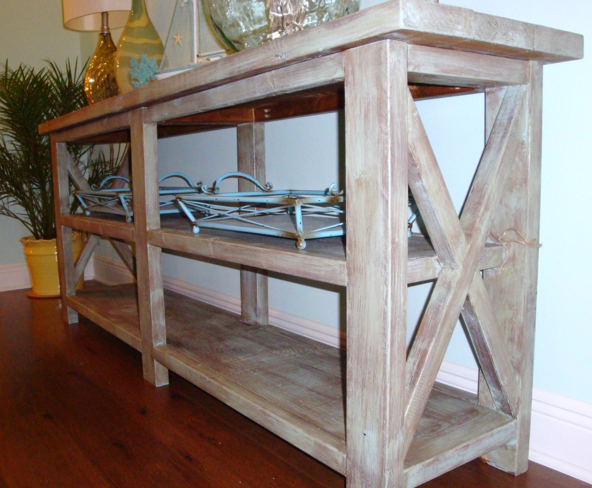 make a rustic sofa table furniture lifts for ana white coastal chic designs console