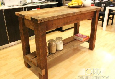 Kitchen Island Furniture Plans
