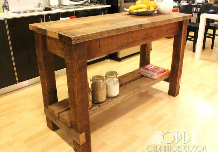 Diy Kitchen Island From Table