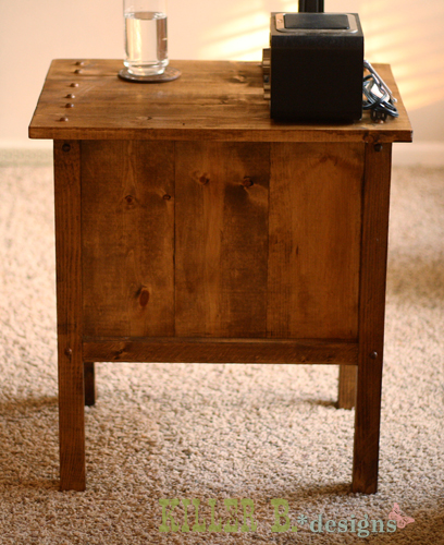 tidy up end table ana white