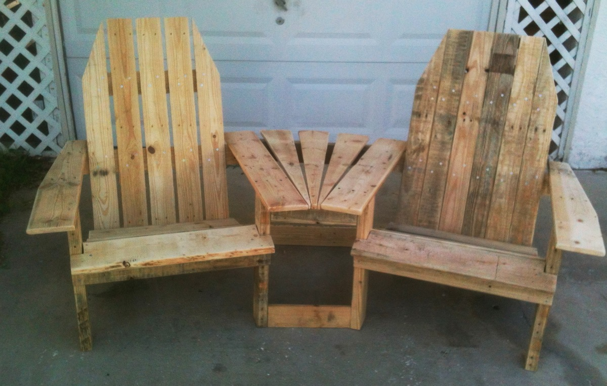 pallet wood chair white bistro chairs plans to build adirondack from pallets pdf