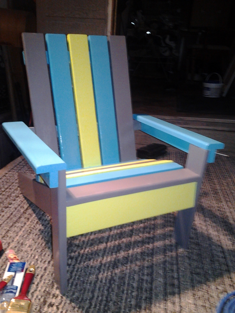 adirondack chair diy ana white round back dining chairs kids projects