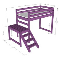 free plans for loft bed with stairs | Quick Woodworking ...