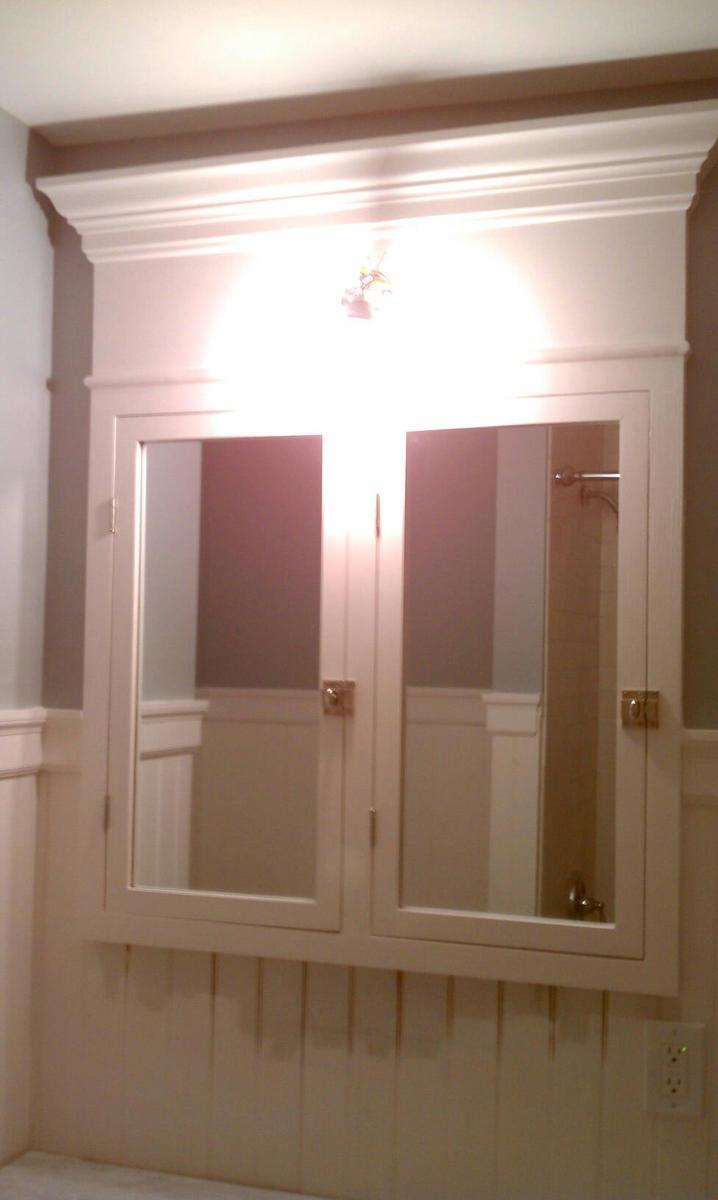 Ana White  Custom BuiltIn Medicine Cabinet  DIY Projects