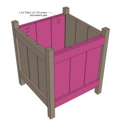 wood flower box diagram [ 909 x 900 Pixel ]