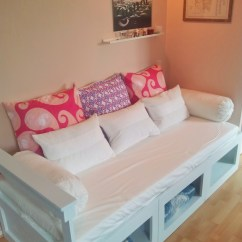 Diy Daybed Sofas Kids Room Sofa Ana White Storage Projects
