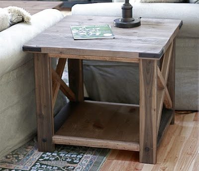 diy living room side tables leather sofa in nigeria ana white rustic x end table projects