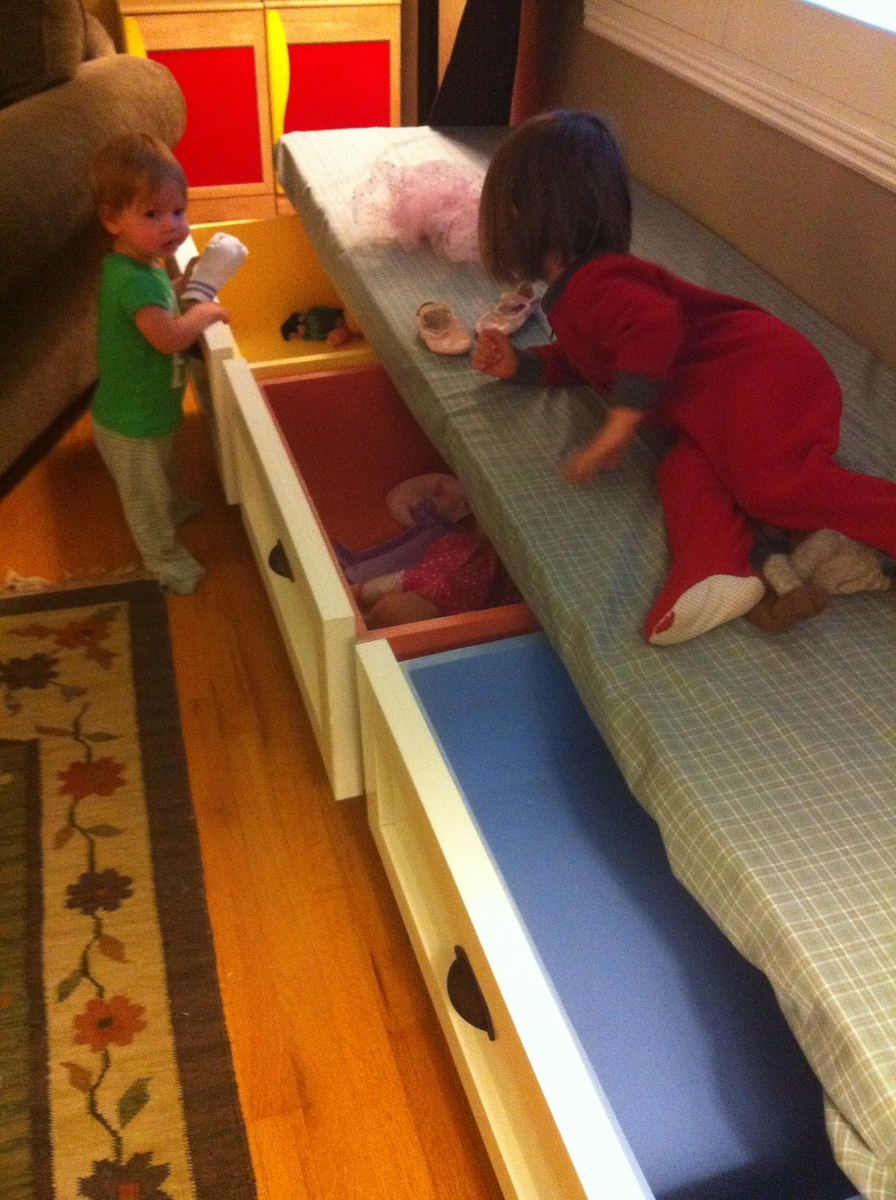 Ana White Bench With Drawers Diy Projects