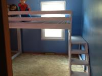 Ana White | Twin loft beds with platform - DIY Projects