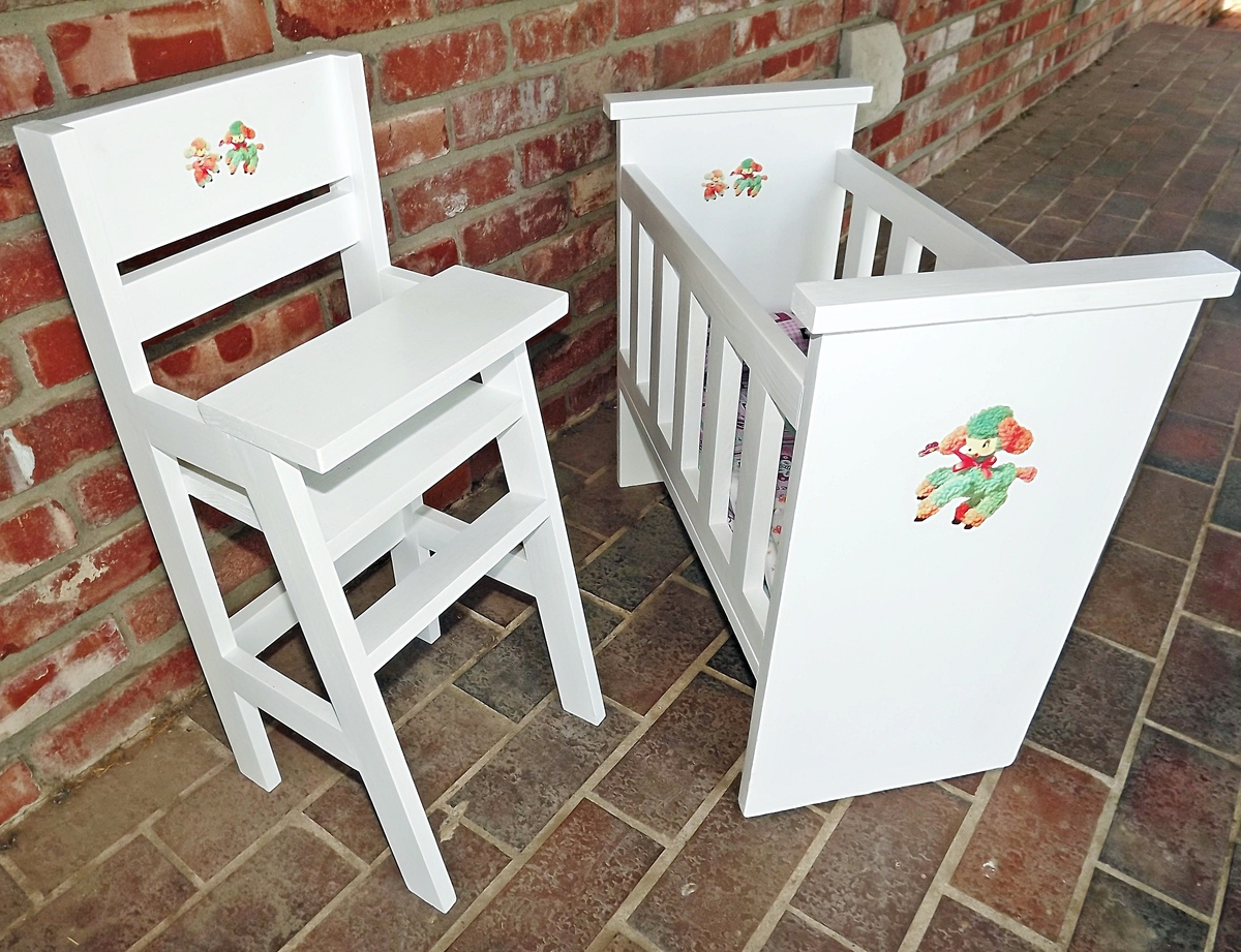 baby toy high chair set oversized swivel accent ana white olivia s doll crib and sets diy projects