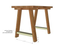 Ana White | Simple Small Trestle Desk - DIY Projects