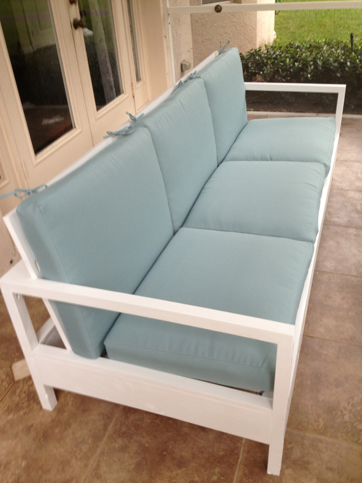 Ana White  Simple White Patio Sofa  DIY Projects