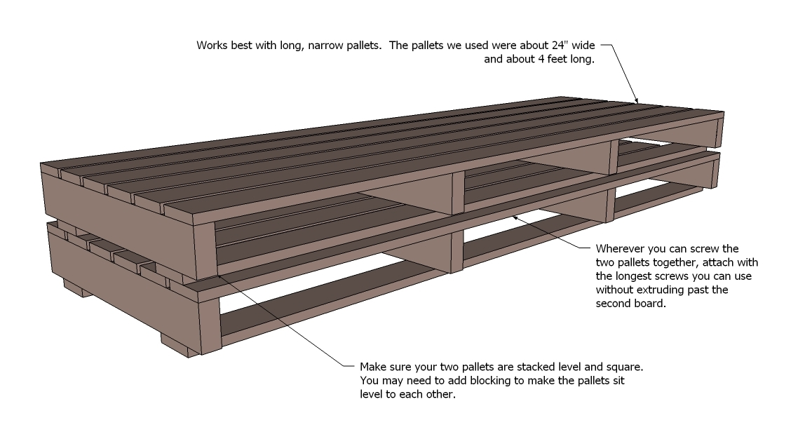 diy sofa from pallets reviews on lazy boy sofas ana white pallet with tacoma perry projects