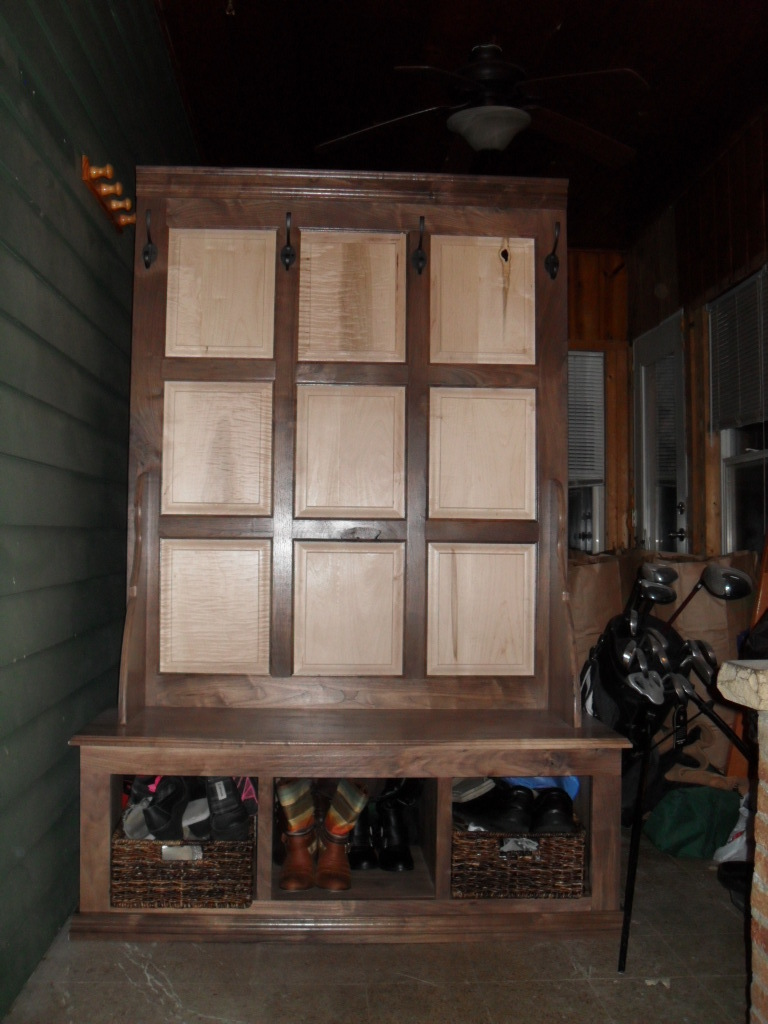 industrial kitchen table lowes cabinet sale ana white | fancy hall tree - diy projects