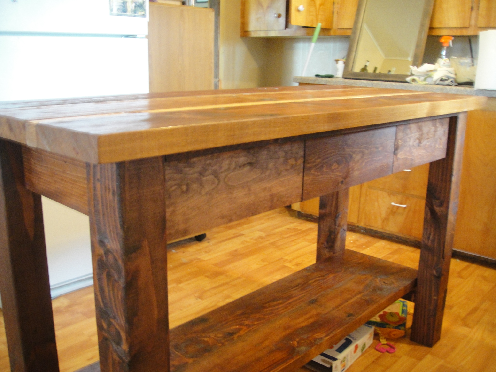 wood kitchen islands cupboards ana white island from reclaimed diy projects