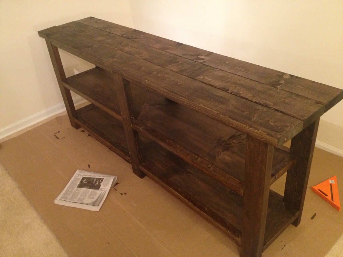 make a rustic sofa table nolan reclining ana white console diy projects