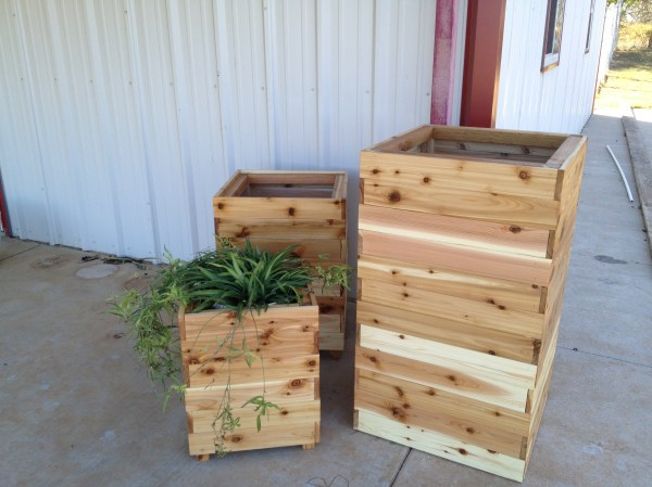 Tall Cedar Planter Box