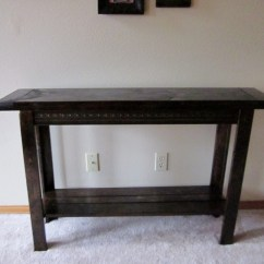 Easy Sofa Table Diy Curved For Bay Window Uk Ana White Console Projects