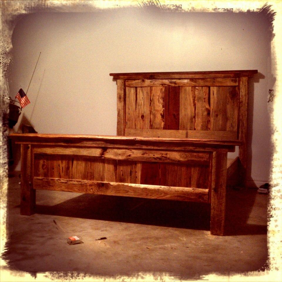 Ana White Queen Farmhouse Bed Rough Cut Lumber DIY