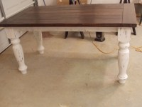 Ana White | TURNED LEG FARMHOUSE TABLE - DIY Projects