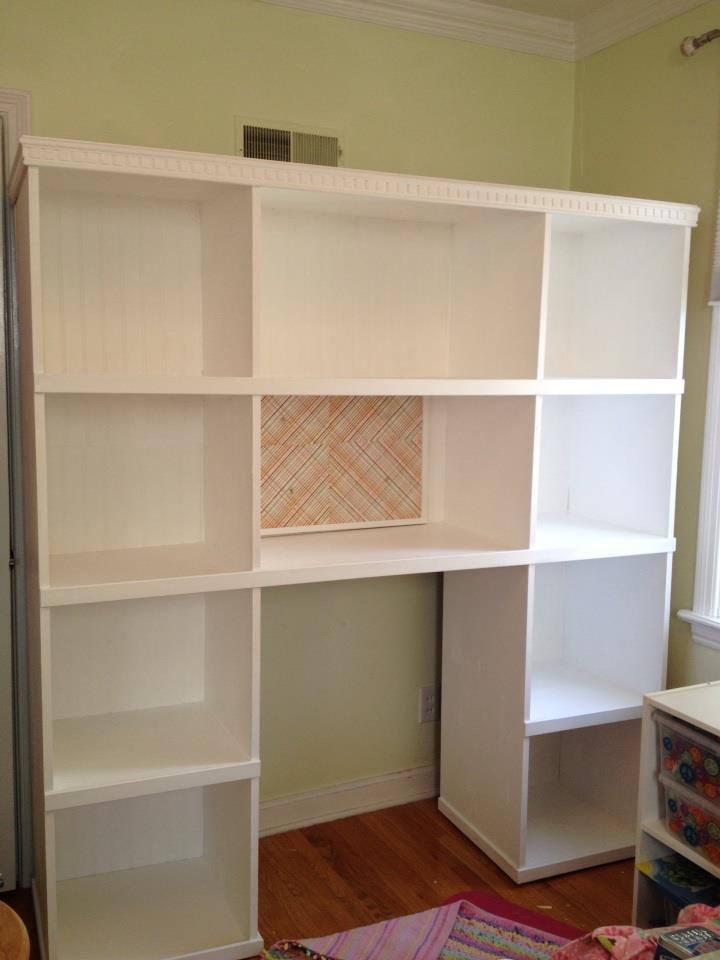 Ana White Bookcase Storage Unit Desk Combo Diy Projects