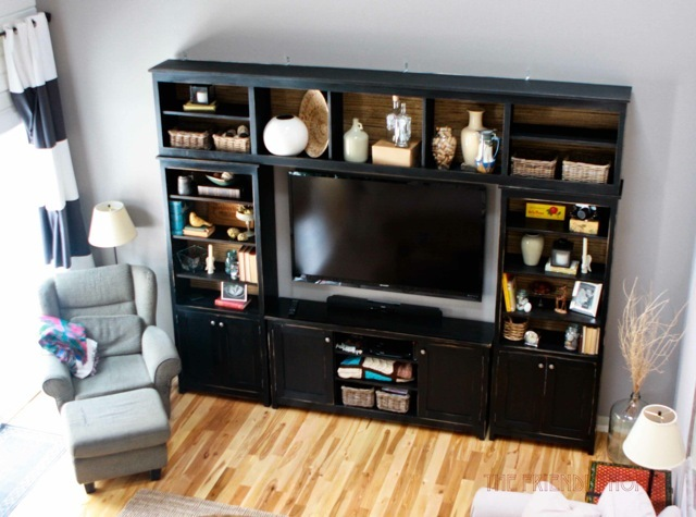 media center living room lovely pictures ana white bridge for book entertainment diy projects her and wanted to add a little more the so hillary i worked on plans together create
