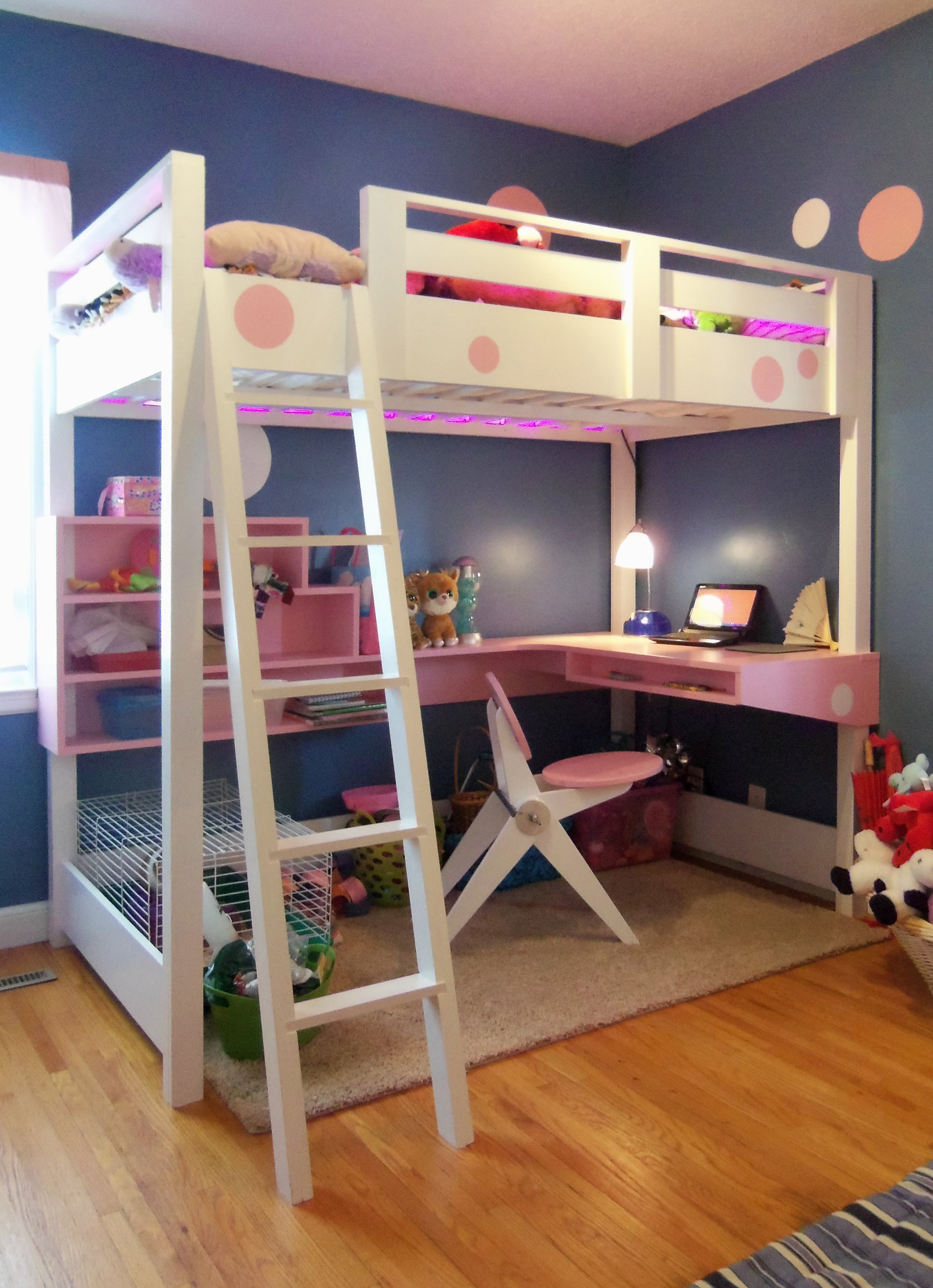 Ana White  Loft bed with desk  DIY Projects