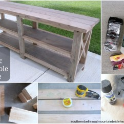 Build A Rustic Sofa Table Cream Throws Uk Ana White Diy X Console Projects