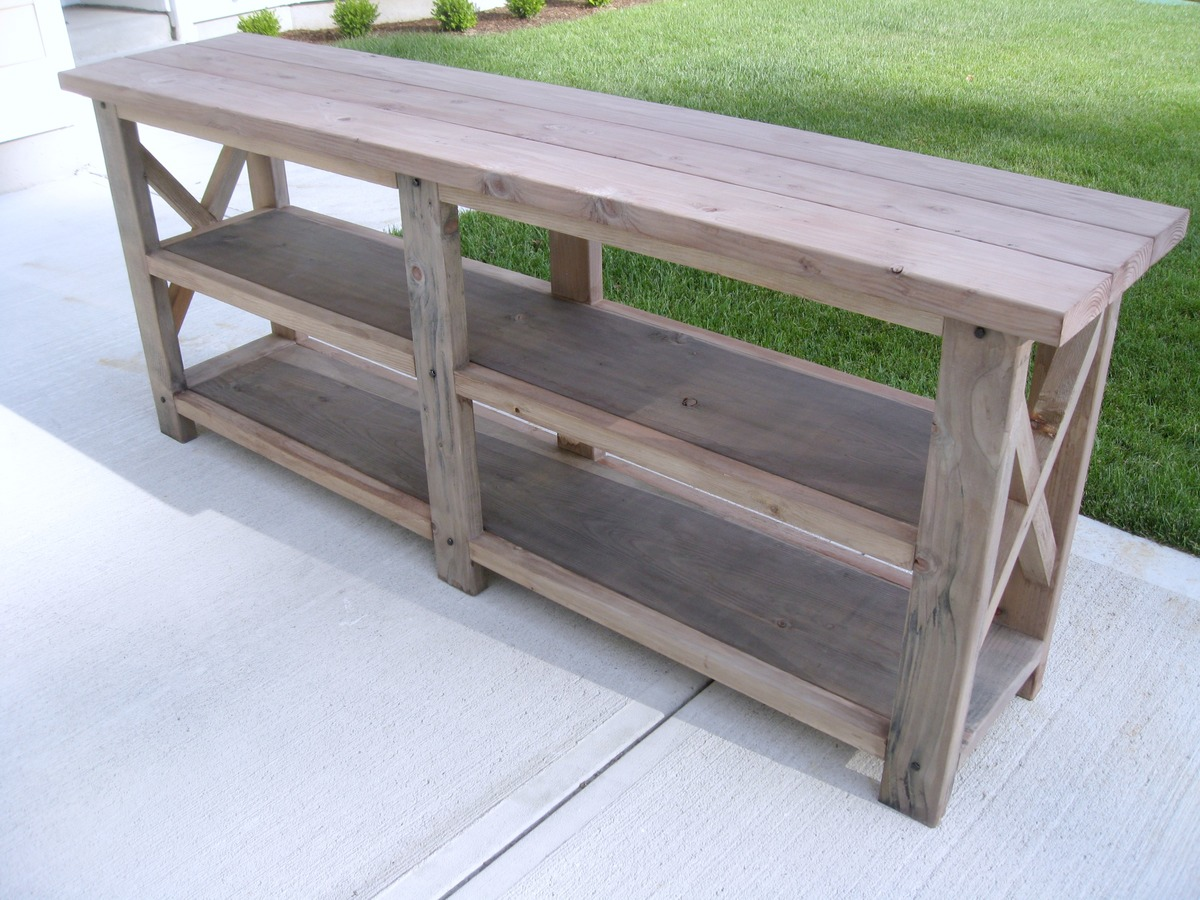 build a rustic sofa table dfs bed sale ana white diy x console projects
