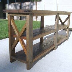 Build A Rustic Sofa Table Sofas Usados Baratos Porto Ana White Diy X Console Projects