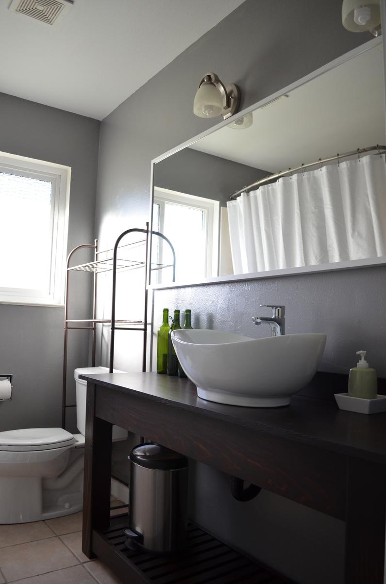 Ana White Farmhouse Vanity With Shelf DIY Projects