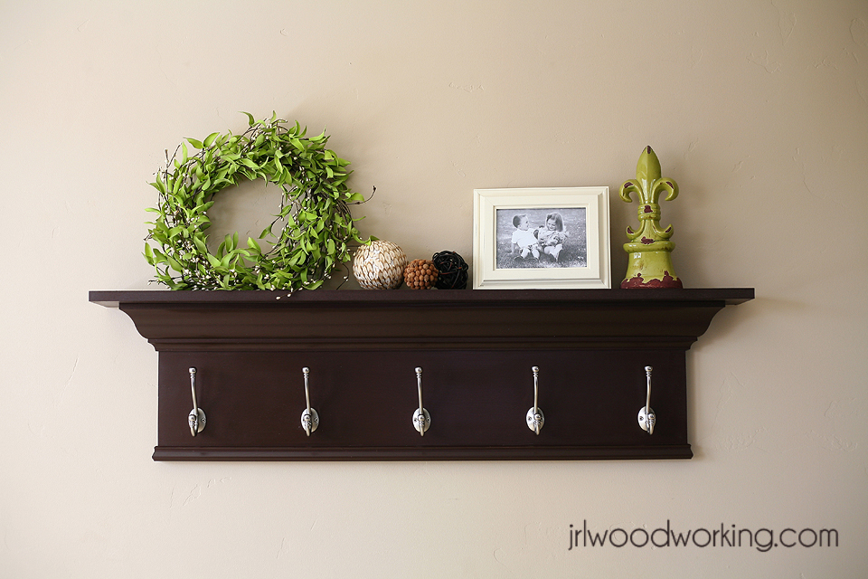 Ana White  4Foot Crown and Hooks Wall Shelf  DIY Projects