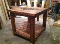 Ana White   Rustic logo end table - DIY Projects