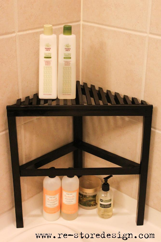 Ana White  24 Scrap Wood  Shower Organizer  DIY Projects