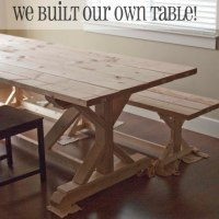 Ana White | Fancy X Farmhouse Table - DIY Projects