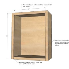 How To Make Kitchen Cabinets Hotels With A Ana White Wall Cabinet Basic Carcass Plan Diy Projects
