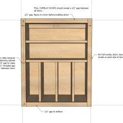 Kitchen Cabinet Plans Miniature Utensils Ana White Wall Basic Carcass Plan Diy