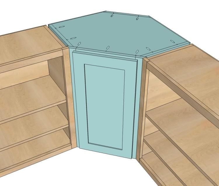 Wall Kitchen Corner Cabinet Ana White