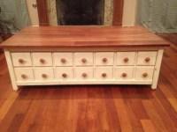 Ana White | Apothecary Hidden Storage Coffee Table - DIY ...