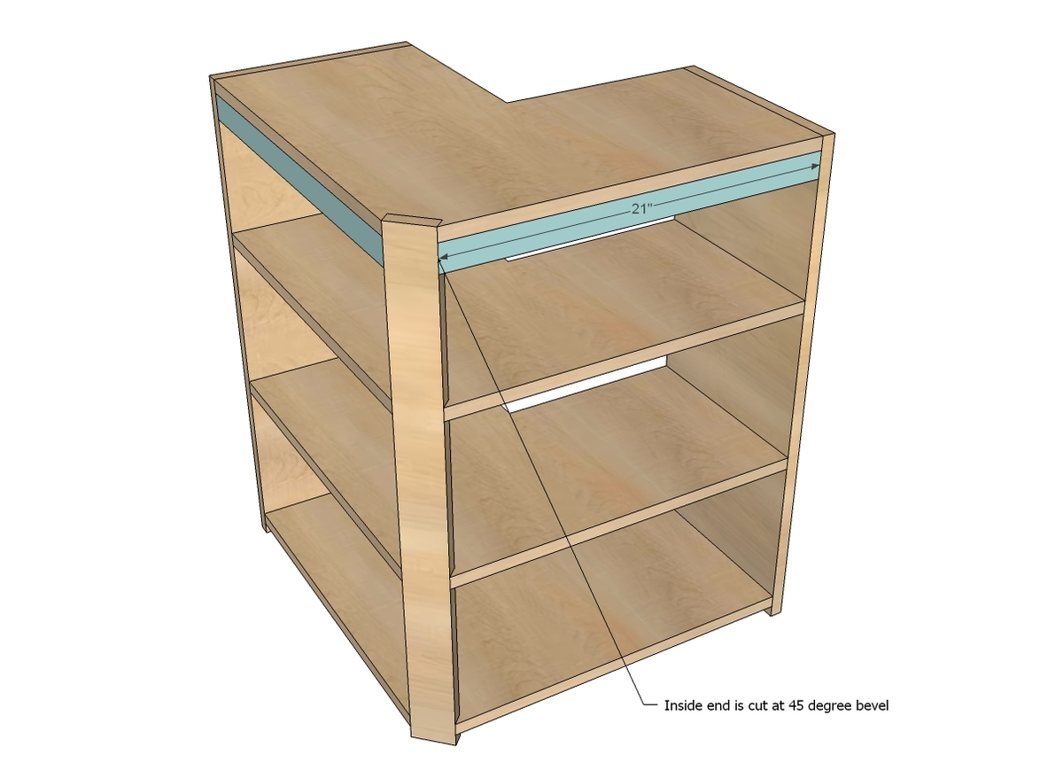 building kitchen wall cabinets pans ana white corner pie cut cabinet diy projects