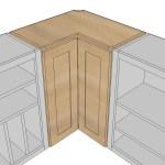 Wall Corner Pie Cut Kitchen Cabinet Ana White