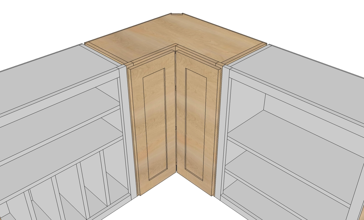 white corner kitchen cabinet unique countertops wall pie cut rumah impian