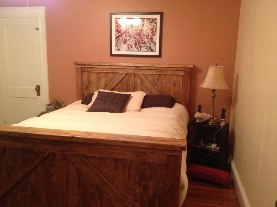 Ana White Queen Bed Frame Combo FarmhouseBrookstone