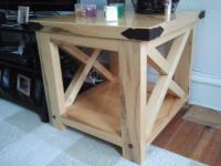 Ana White | Natural Rustic X End Table - DIY Projects