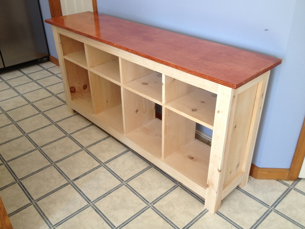 ana white sofa table l shaped queen sleeper diy projects