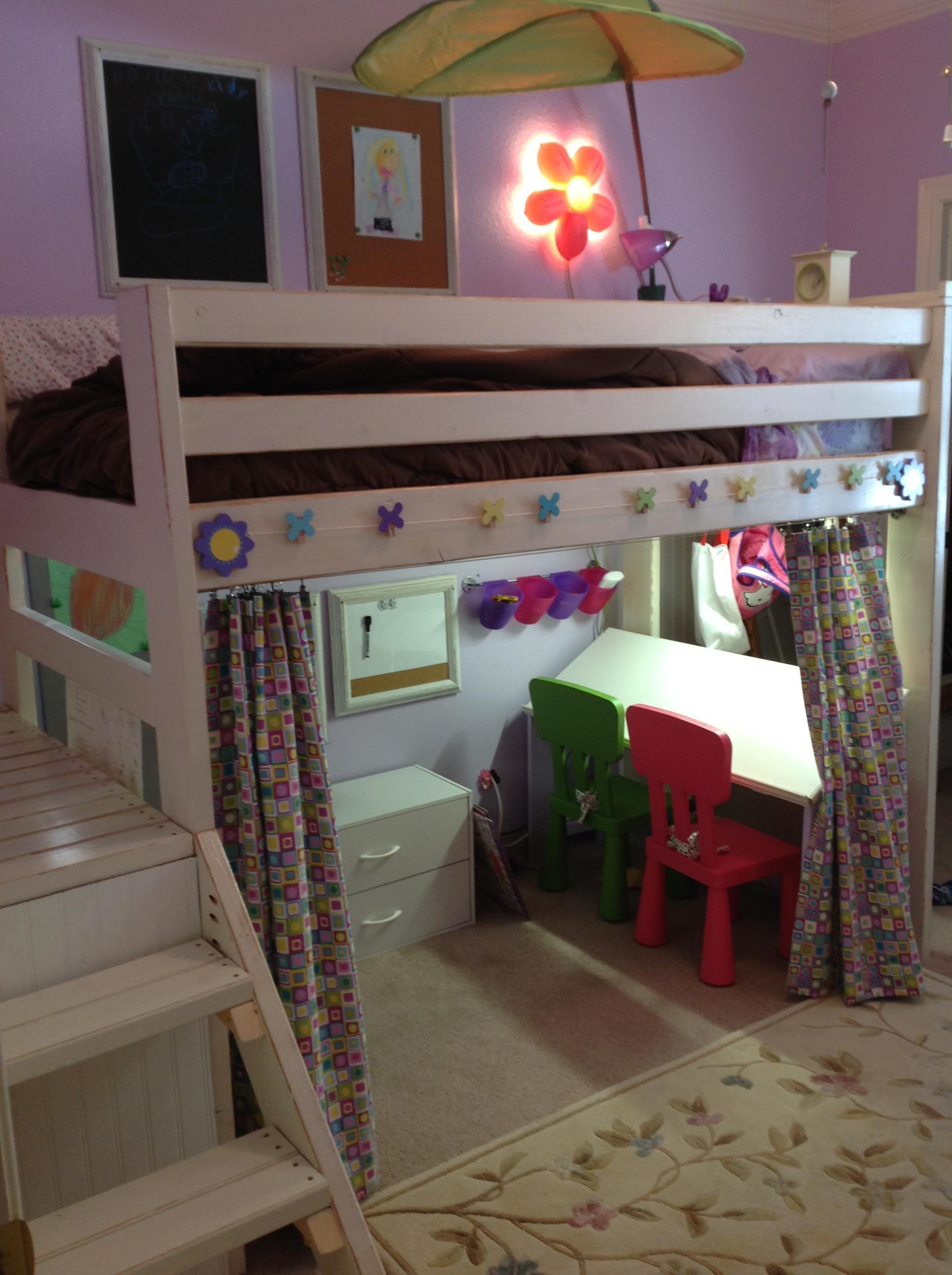 Ana White  Art Studio Loft Bed  DIY Projects