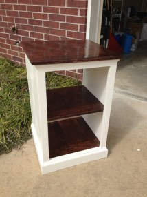 Ana White Painted And Stained Katie Open Shelf