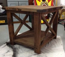 Ana White Rustic End Table - Diy Projects
