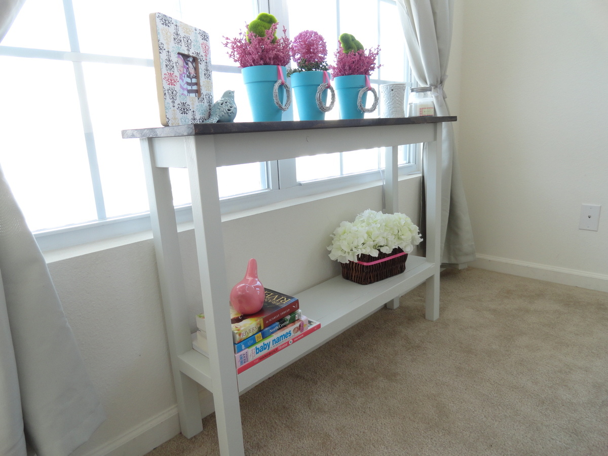 ana white sofa table leather color restoration kit | narrow console - diy projects