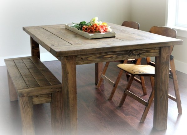 Ana White Red Hen Home39s Farmhouse Table and Bench DIY